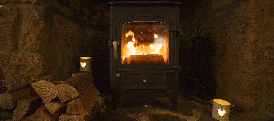 Woodburner lit